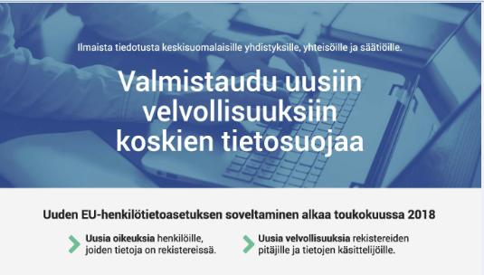 Ajankohtaista tietoa järjestöille, säätiöille ja yhteisöille tietosuojasta 21.11.2017
