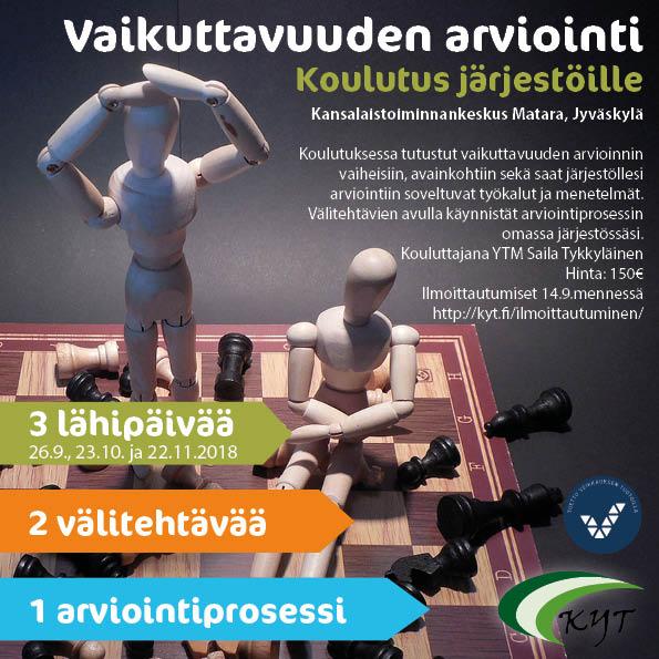 Vaikuttavuuden arviointi -koulutusta järjestöille Jyväskylässä