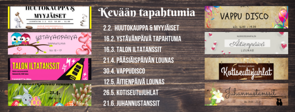 Talolla tapahtuu - kevät 2019 Valkolan nuorisoseurantalolla