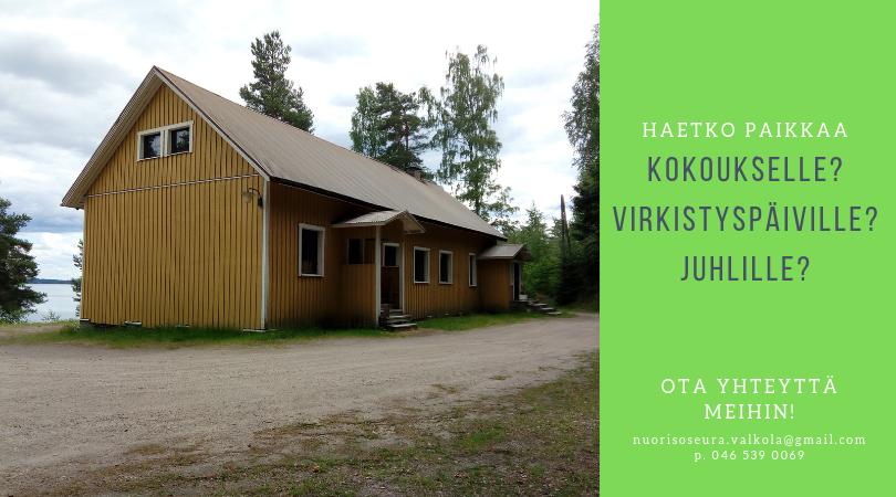 Virkeyttä Valkolasta – Onko haussa paikka kokoukselle? Juhlille? Virkistyspäiville?