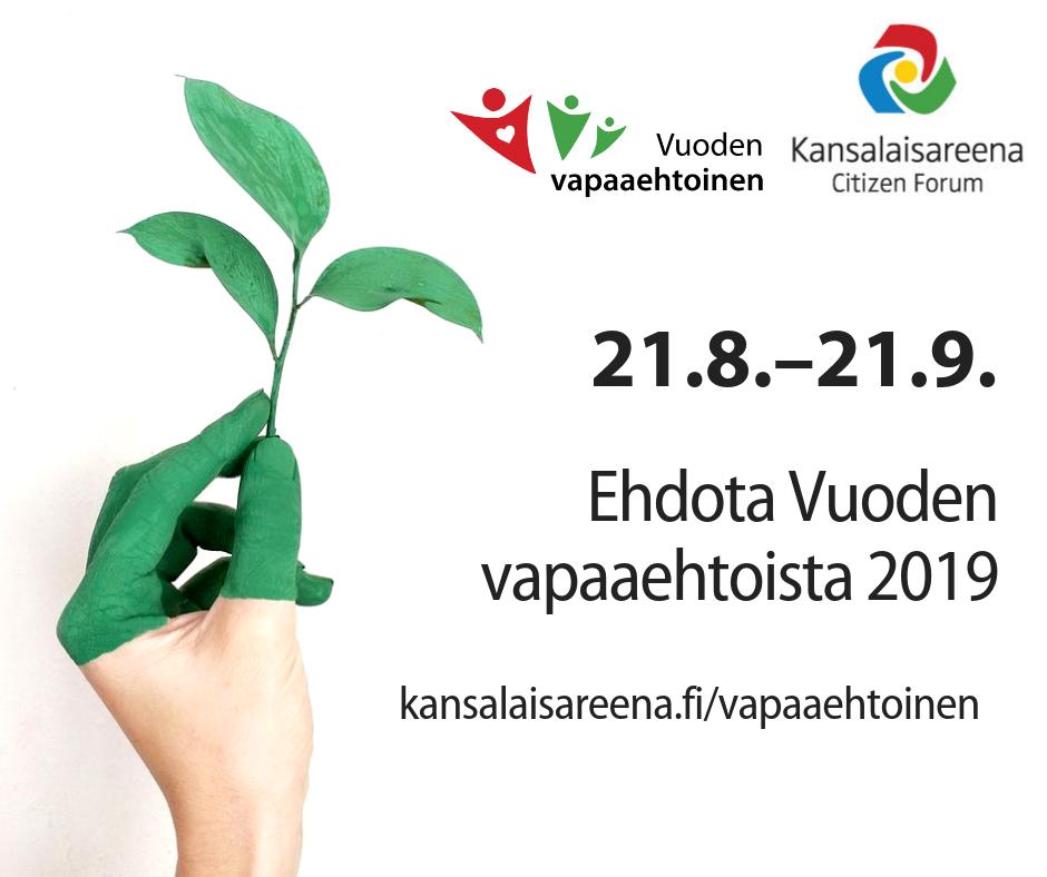Keski-Suomesta viisi ehdokasta Vuoden vapaaehtoinen -äänestyksessä!