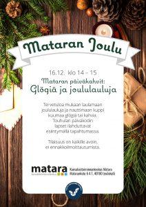Glögiä ja joululauluja Mataran aulassa