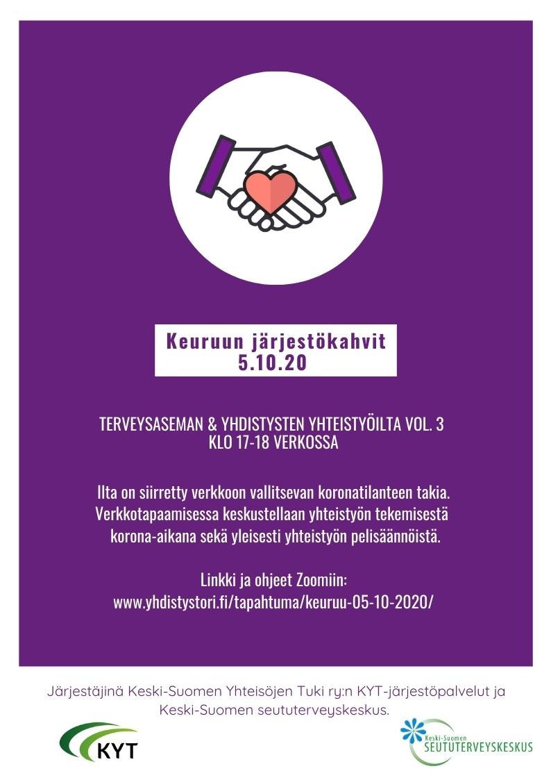 Järjestökahvit verkossa 5.10.2020