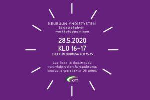 Järjestökahvit 28.5.2020 mainoskuva