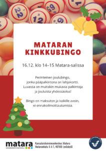 Joulukuusi ja kellot, taustalla bingopalloja.