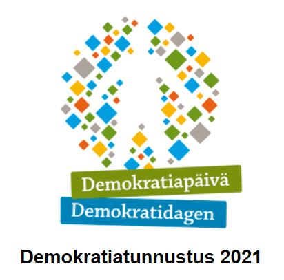 Ehdota vuoden 2021 Demokratiatunnustuksen saajaa