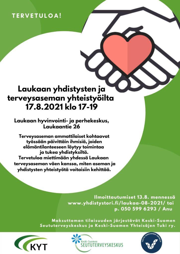 Laukaan yhdistysten ja terveysaseman yhteistyöilta 17.8.21