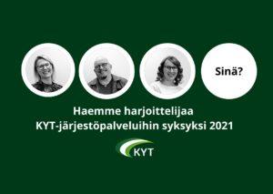 KYT-järjestöpalvelut hakee harjoittelijaa syksyksi 2021