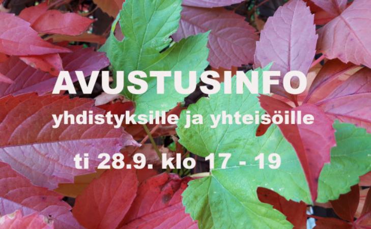 Uusi avaus Jyväskylän kaupungilta - avustusinfo yhdistyksille ja yhteisöille 28.9.21