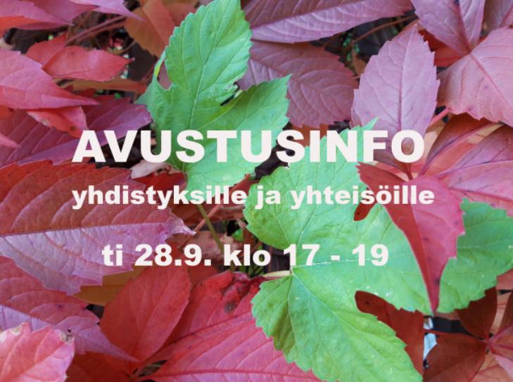 Uusi avaus Jyväskylän kaupungilta – avustusinfo yhdistyksille ja yhteisöille 28.9.21